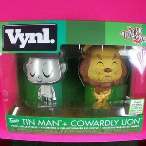 tin man and cowardly lion 2 pack funko pop